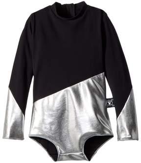 Nununu Half and Half Long Sleeve Swimsuit Girl's Swimsuits One Piece
