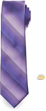 Apt. 9 Men's Patterned Skinny Tie with Pin