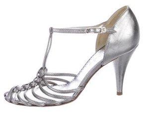 Chanel Metallic CC Multistrap Sandals