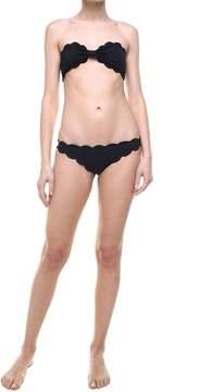 Marysia Swim Antibes Scalloped-edges Bandeau Bikini Top