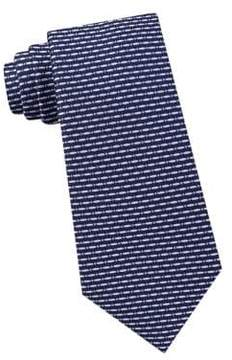 Lord & Taylor The Mens Shop Picadilly Dot Striped Silk Tie
