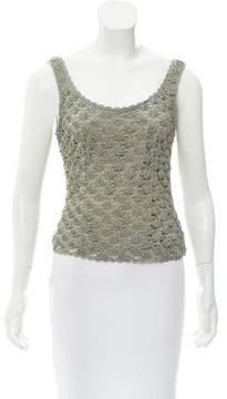 Carmen Marc Valvo Sleeveless Knit Top