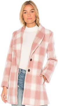 Endless Rose Oversized Checkered Printed Jacket