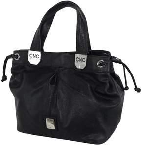 Costume National Black Pebbled Leather Shoulder Bag