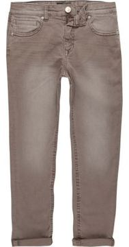 River Island Boys brown Dylan slim fit jeans