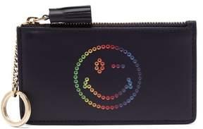 Anya Hindmarch Rainbow Wink Leather Purse - Womens - Navy Multi