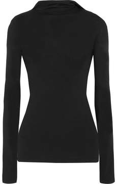 Dion Lee Pinacle Open-back Knitted Hooded Top - Black