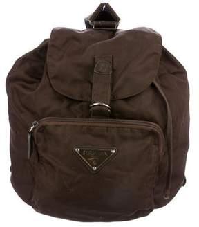 Prada Leather-Trimmed Vela Backpack