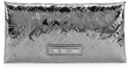 Love Moschino Metallic Logo Embossed Envelope Clutch