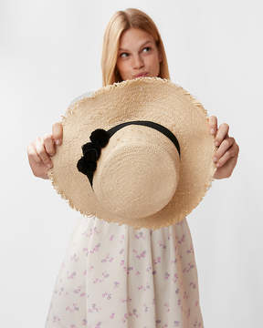 Express Frayed Edge Boater Hat