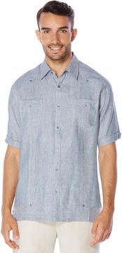 Cubavera 100% Linen Short Sleeve 2 Upper Pocket Pinstripe Guayabera