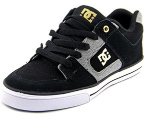 DC Pure Xe Round Toe Leather Skate Shoe.