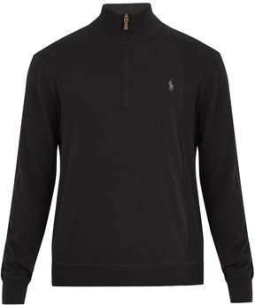 Polo Ralph Lauren Half-zip logo-embroidered cashmere sweater
