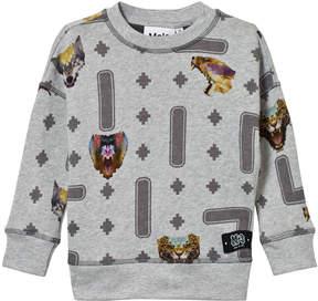 Molo Grey Milton Animal Game Sweater