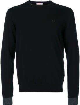Sun 68 contrast cuff sweater
