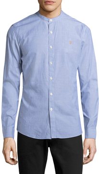 Farah Men's Pattenson Grandad Cotton Sportshirt