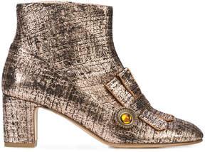 Rupert Sanderson fringed ankle boots