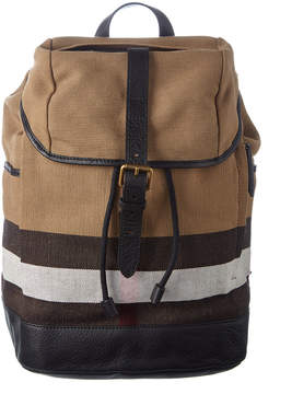 Burberry Drifton Check Canvas Backpack - ONE COLOR - STYLE
