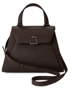 Akris Alba Top Handle Leather Handbag