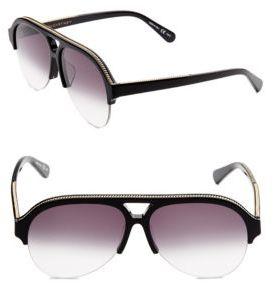 Stella McCartney 60MM, Gradient Aviator Sunglasses