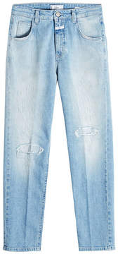 Closed Distressed Cropped Jeans