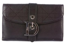 Christian Dior Cannage Flap Wallet