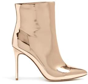 Forever 21 Faux Patent Metallic Ankle Boots