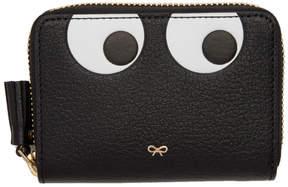 Anya Hindmarch Black Small Eyes Zip Around Wallet