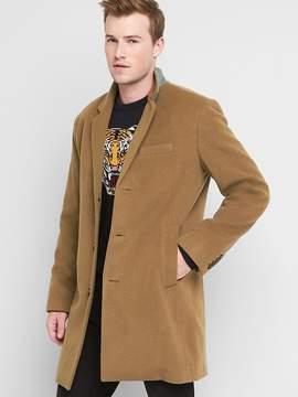 Gap Cashmere blend crombie coat