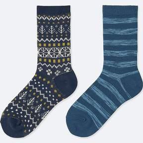 Uniqlo Boy's Heattech Socks (2 Pairs)