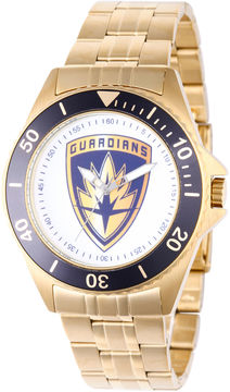 Marvel Guardian Of The Galaxy Mens Gold Tone Strap Watch-Wma000096