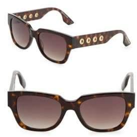 McQ 51MM Square Tortoiseshell Sunglasses