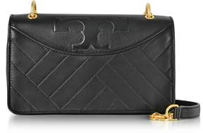 Tory Burch Alexa Leather Shoulder Bag - BLACK - STYLE