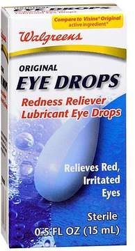Walgreens Redness Reliever Lubricant Eye Drops