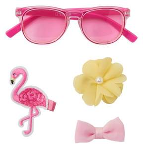 Little Me Bright Pink Sunglasses & Hair Set (Baby Girls)