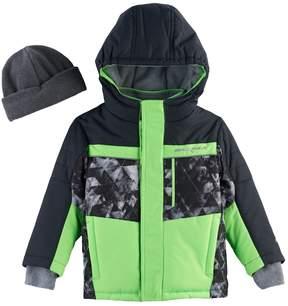 ZeroXposur Toddler Boy Abstract Heavyweight Jacket & Hat Set