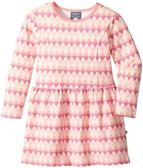 Toobydoo Geo Pink Skater Dress Girl's Dress