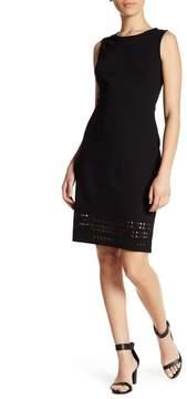 Atelier Luxe Sleeveless Lasercut Ponte Sheath Dress (Petite)