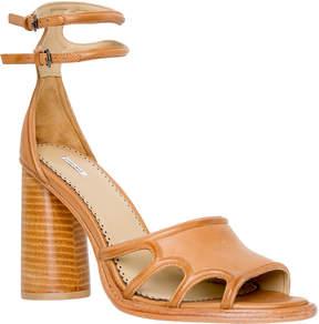 Max Studio employ : open-toe block heels