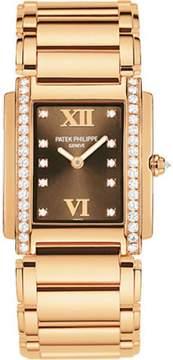Patek Philippe 4910/11R-010 18K Rose Gold with Diamond 25mm Womens Watch