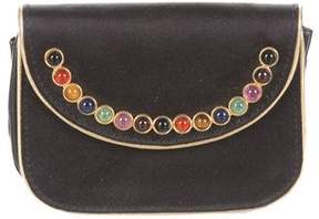Judith Leiber Satin Embellished Coin Purse