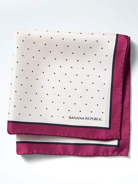 Banana Republic Polka Dot Silk Pocket Square