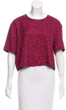 Piamita Silk Short Sleeve Top