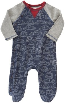 Mud Pie Baby Boys 3-6 Months Car-Print Footed Coverall