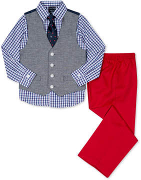 Nautica 4-Pc. Vest, Shirt, Pants & Necktie Set, Toddler Boys