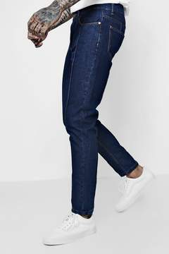 boohoo Tapered Fit Jeans With Pin Tuck Seam Detail