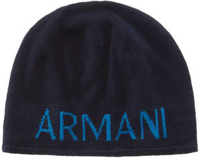 Armani Exchange Men's Logo Beanie