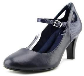 Giani Bernini Vinaa Women Round Toe Leather Mary Janes.