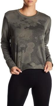 Alternative Elbow Cutout Camo Cropped Pullover
