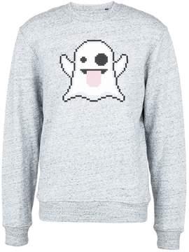 Mostly Heard Rarely Seen 'Spooky' rubber appliqué unisex sweatshirt